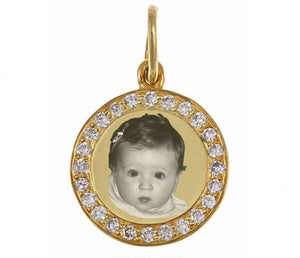 Gold Plated Diamond Circle Tag