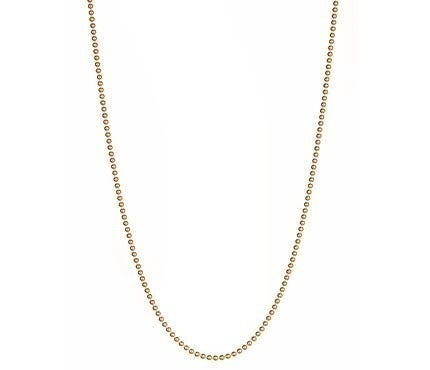 Gold Plated Ball Chain Thin
