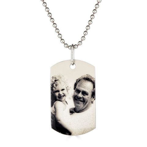Large Photo Dog Tag