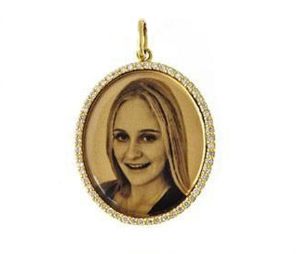 Oval Photo Dog Tag