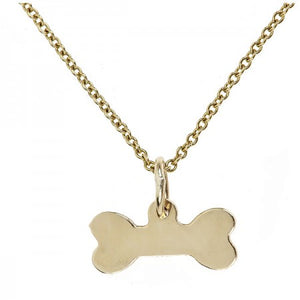 Gold Dog Bone Charm