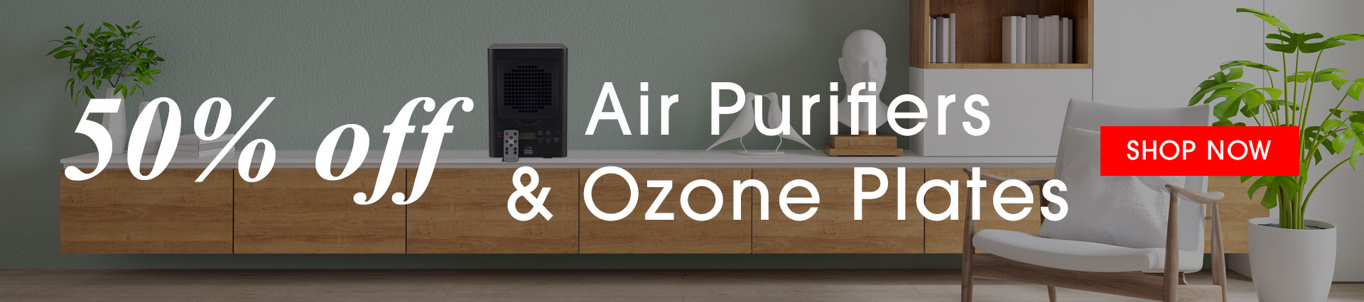50% Off Air Purifiers and Ozone Plates
