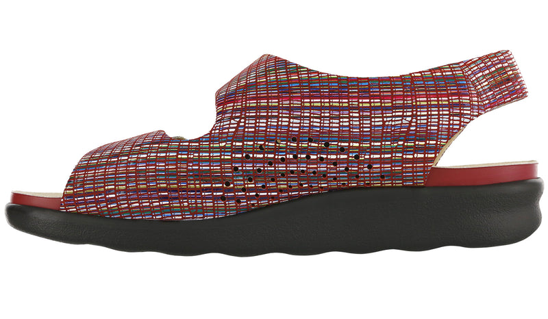 Women's Relaxed - Rainbow Red
