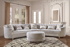 AM White Sectional