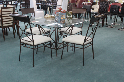 5 Pc Glass Dinette