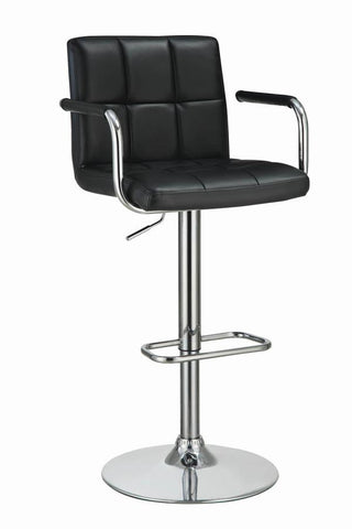 Contempory Black & Chrome Bar Stool