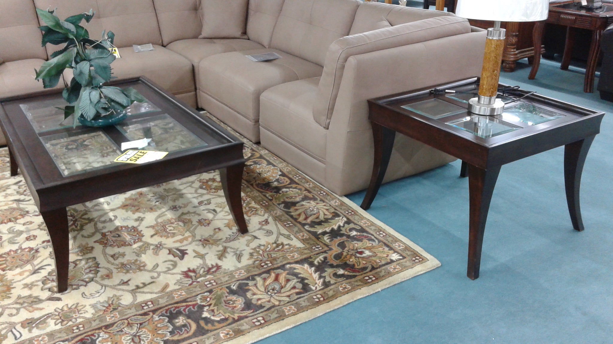 2 Pc Glass Window Coffee & End Table