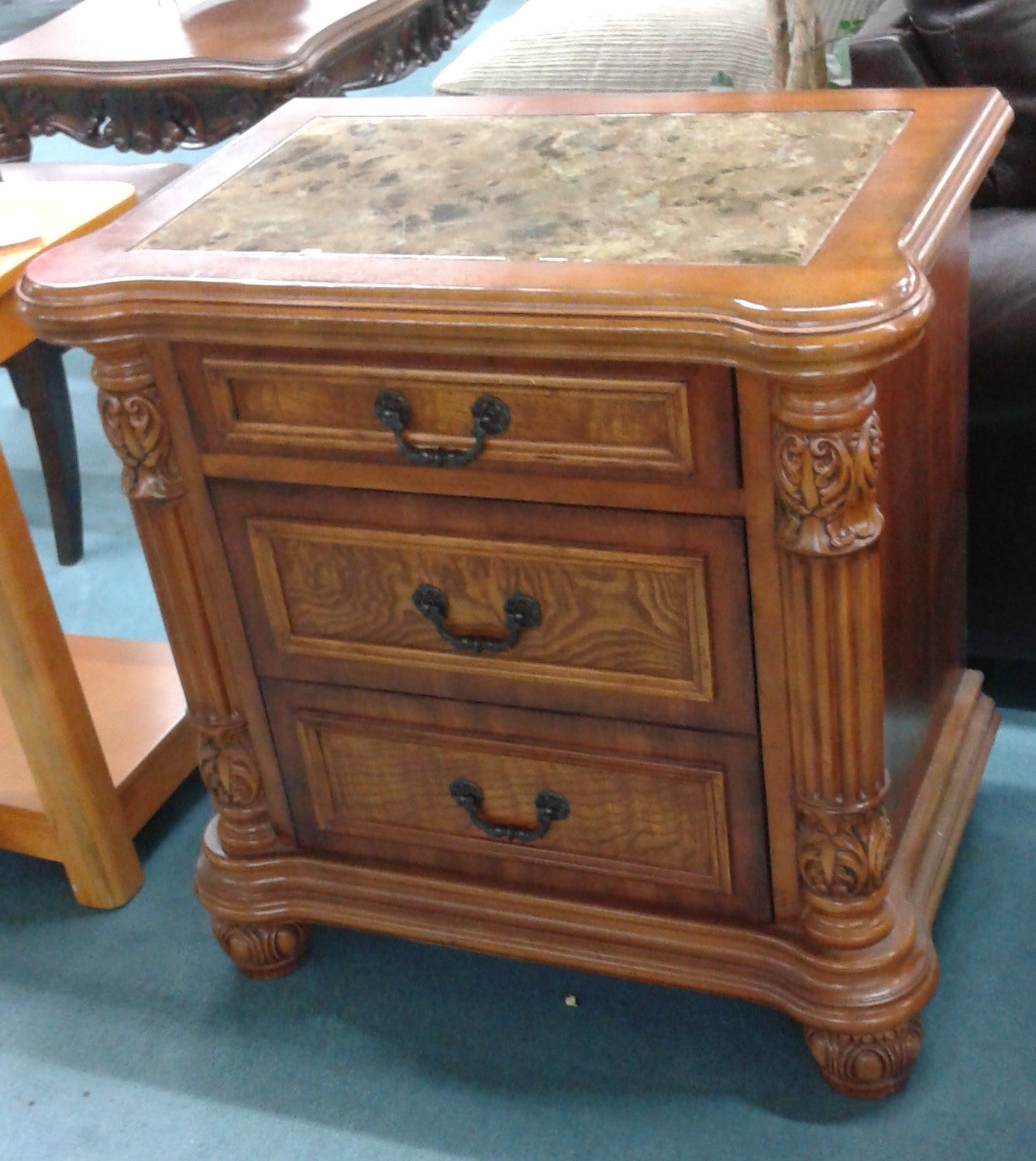 Marble Top 3 Drawer Chest
