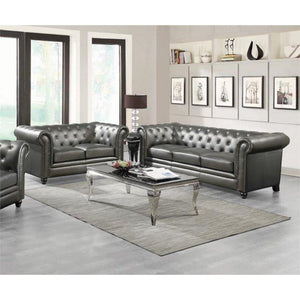 ROY GUNMETAL GREY SOFA LOVESEAT COLLECTION
