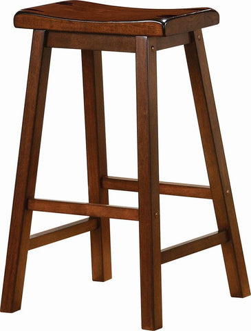 Transitional Chestnut Bar Stool