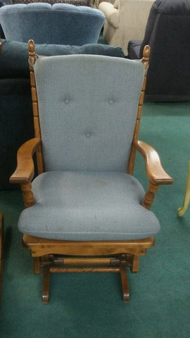 Blue Padded Rocking Chair CLOSEOUT $299 REG $499