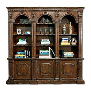 3 Arched Bookcase CLOSEOUT