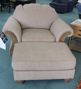 Ashley Chair & Ottoman both for $299