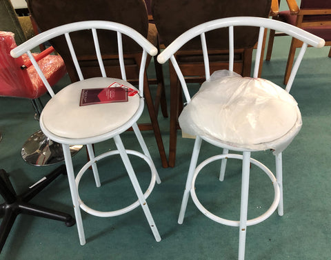 "White Metal 29"" Bar stool"