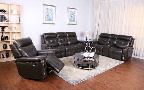 CASSIDY GENUINE LEATHER 3 PCS SOFA SET