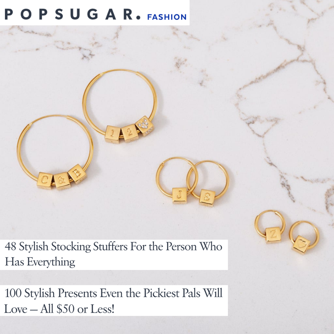 Popsugar Fashion chooses Capsul Custom Block Hoops