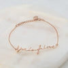 Sterling Silver Live Laugh Love Signature Bracelet