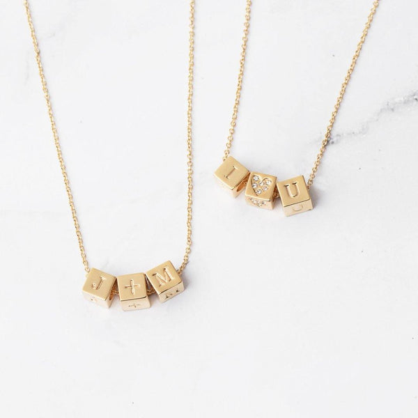 Custom Block Necklace from Capsul Jewelry