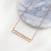 Custom Cut Out Bar Necklace | Personalized Bar Necklace