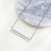 Custom Cut Out Bar Necklace