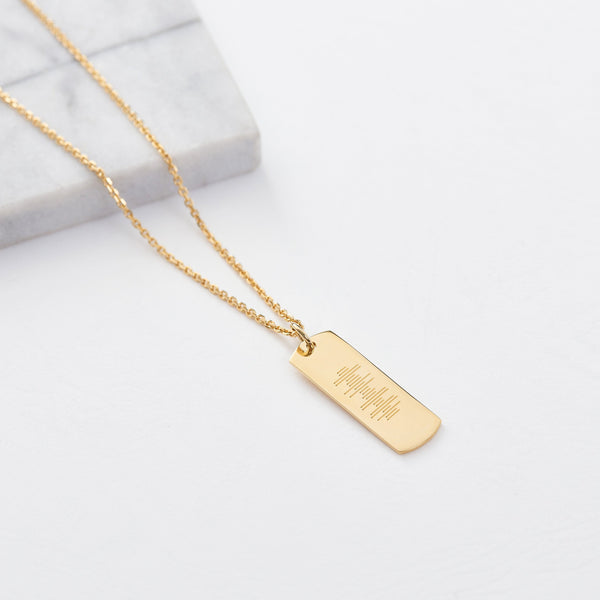 Custom ID Necklace (Engraving/Gold) from Capsul Jewelry