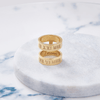Custom Medium Double Ring (Roman Numeral/Gold) from Capsul Jewelry
