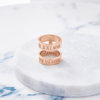 Custom Medium Double Ring (Roman Numeral/Rose Gold) from Capsul Jewelry