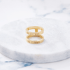 Custom Thin Double Ring (Roman Numeral/Gold) from Capsul Jewelry
