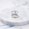 Custom Thin Double Ring (Roman Numeral/Silver) from Capsul Jewelry