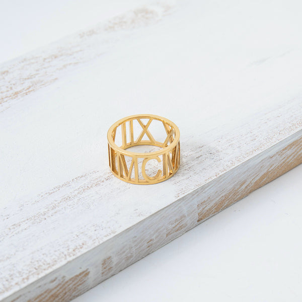 Custom Wide Cut Out Ring