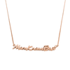 Sterling Silver Mom Knows Best Signature Necklace-Ready-to-Wear-Rose Gold-Sterling Silver-CapsulJewelry.com