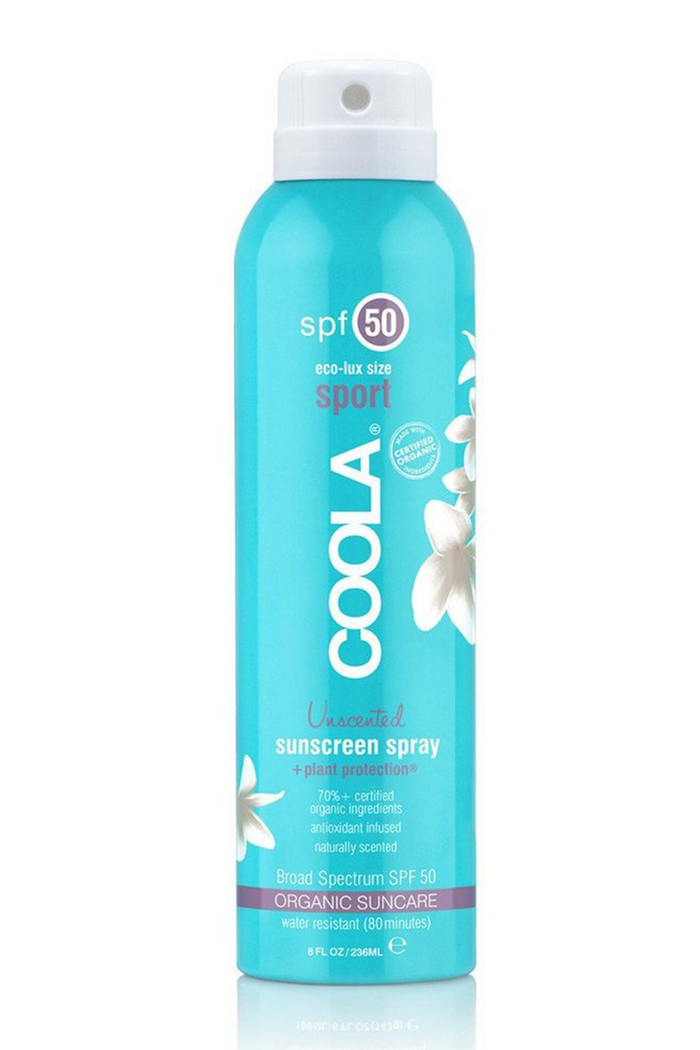 Coola ECO-LUX Sport SPF50 Unscented Sunscreen Spray - Glamalot