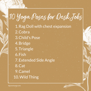 Top 10: Yoga Poses for Desk Jobs