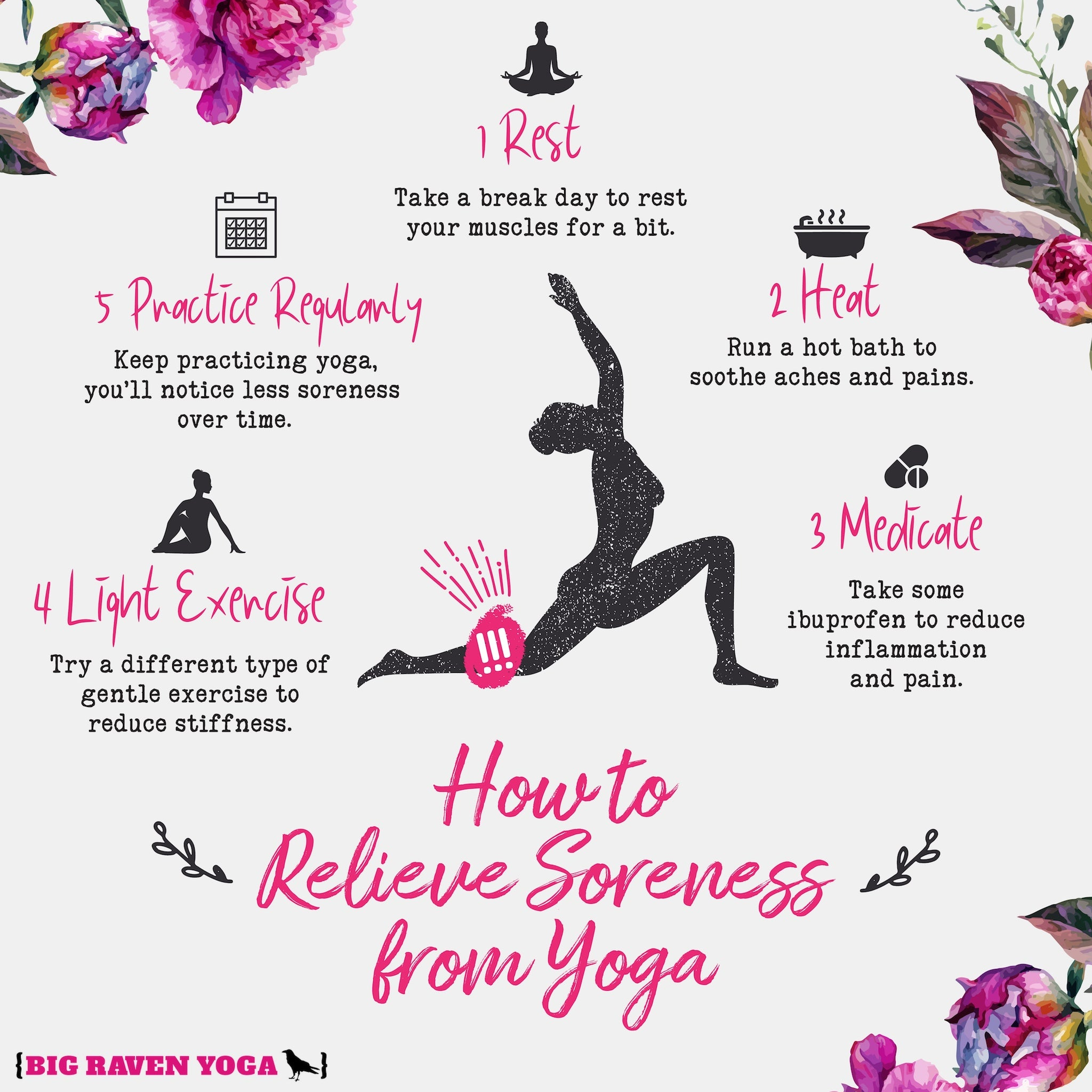 Infographic: How to Relieve Yoga Soreness