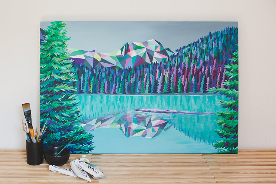 Joffre Lakes Painting by Elyse Dodge