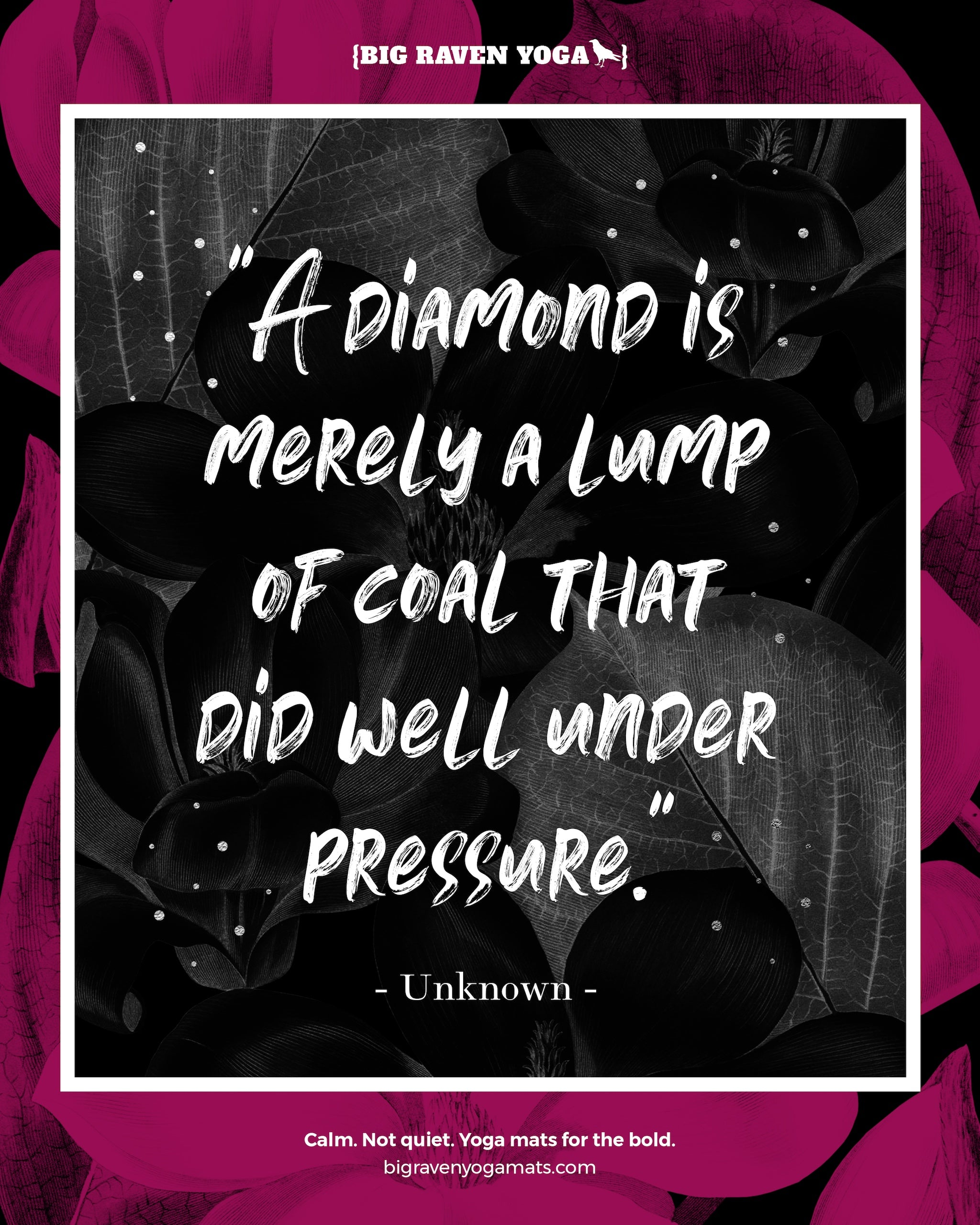 Quote: A diamond is merely a lump of coal that did well under pressure. Anonymous.
