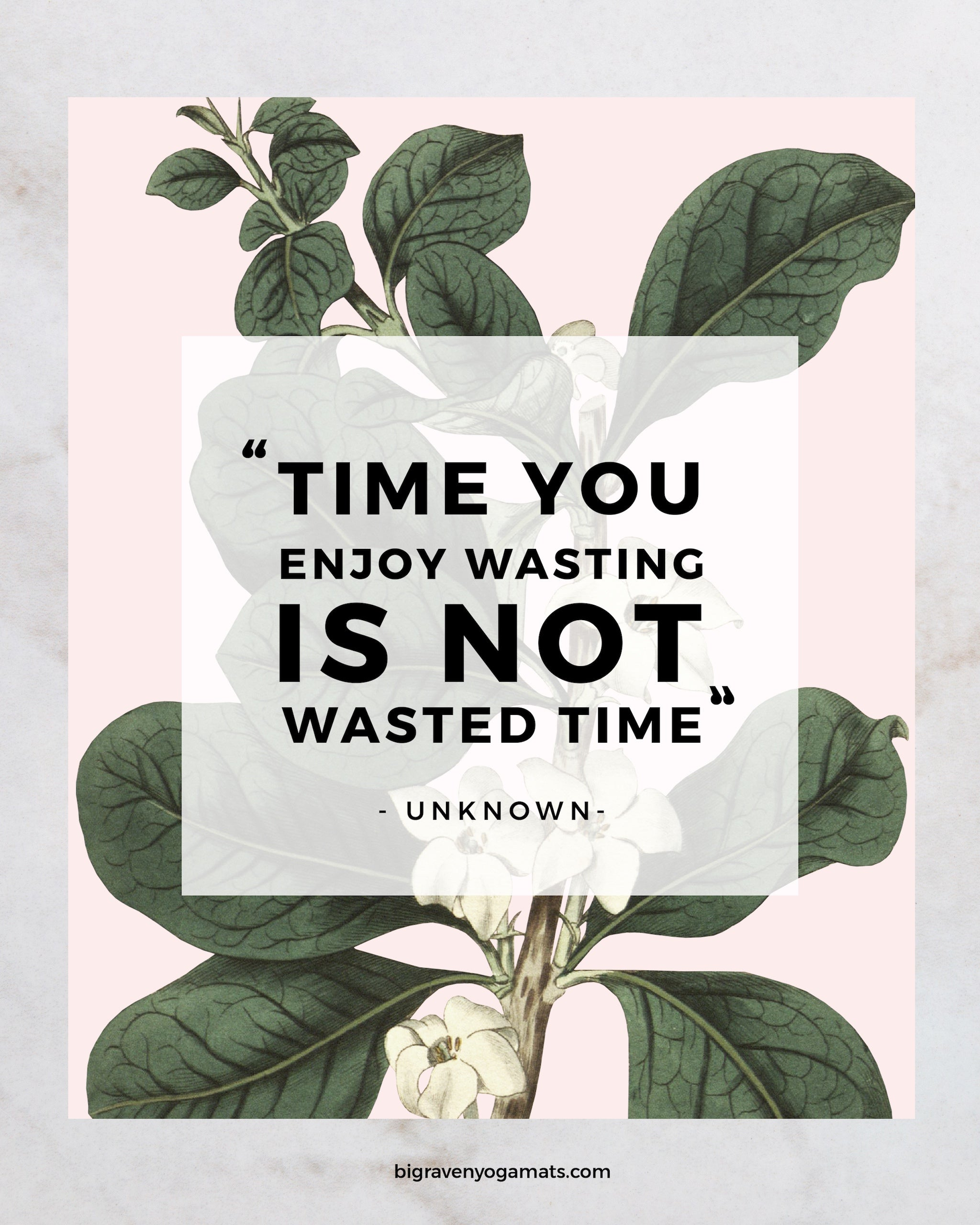 Quote: Time you enjoy wasting is not wasted time. Anonymous.