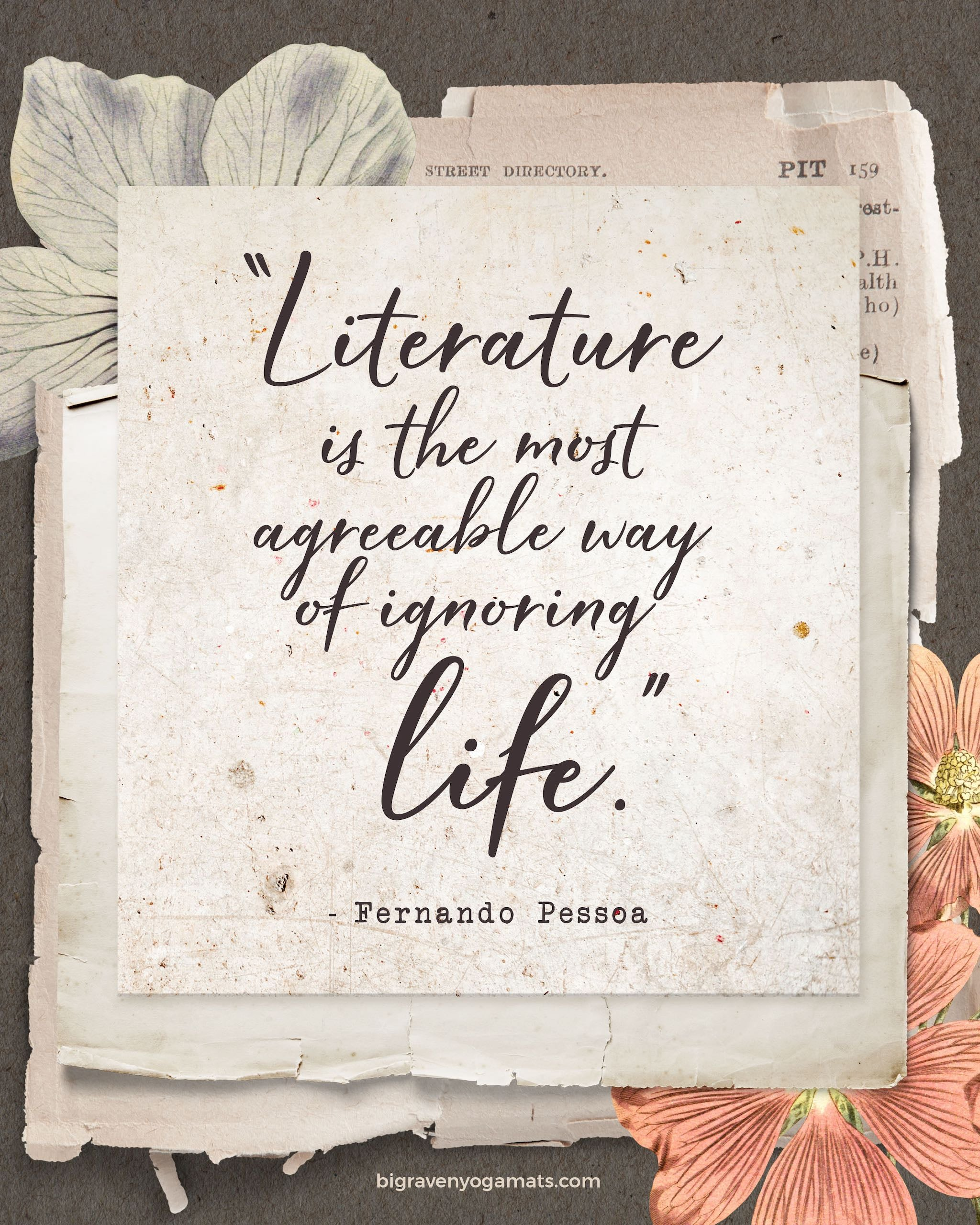Quote: Literature is the most agreeable way of ignoring life. Fernando Pessoa