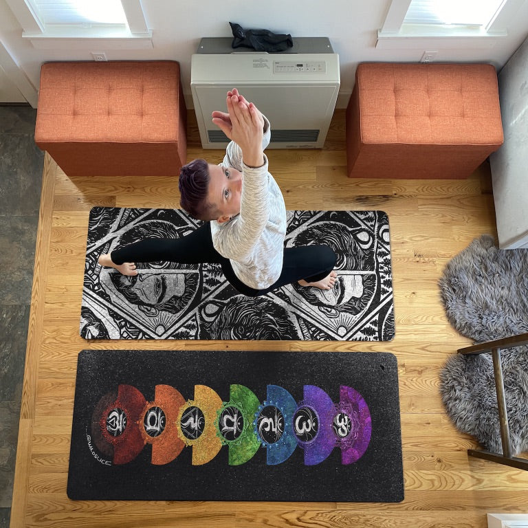 Nicole Labonte on her yoga mats