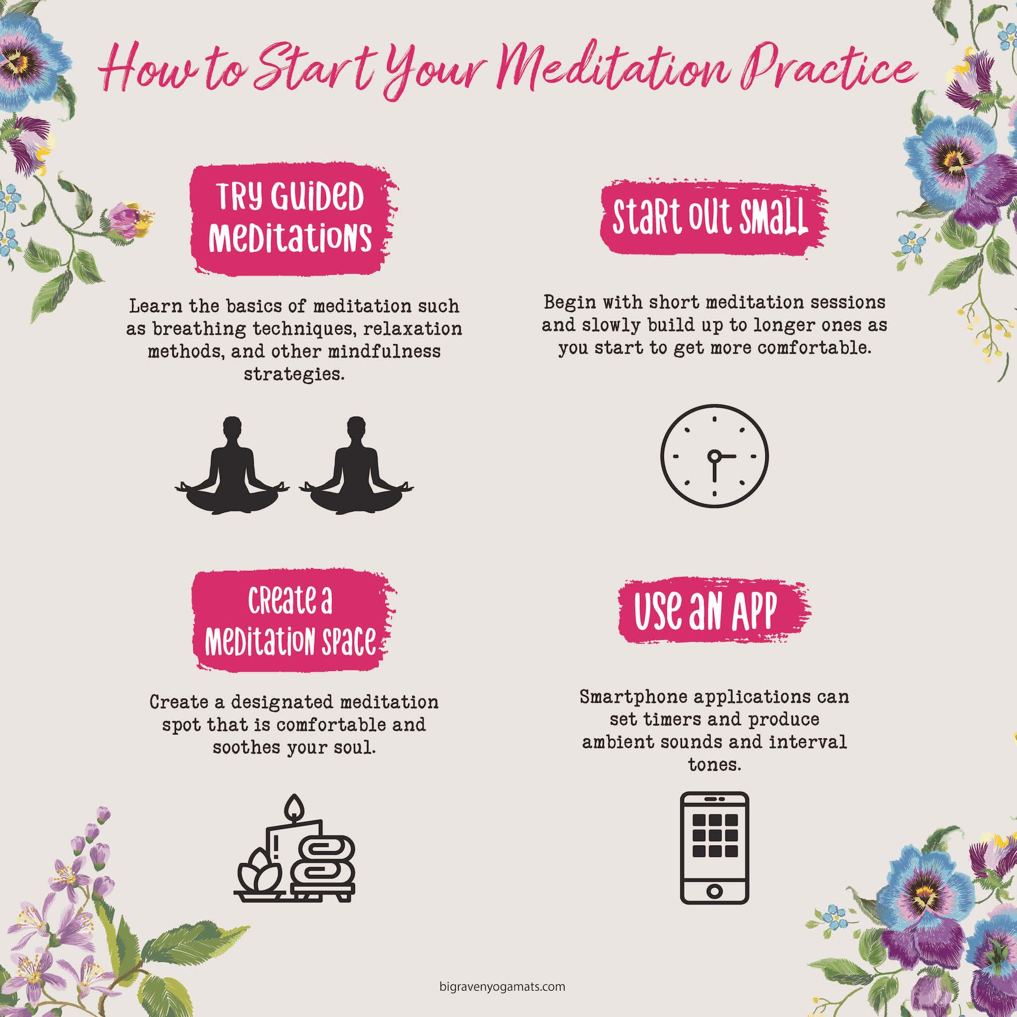 Infographic: How to Start Your Meditation Practice