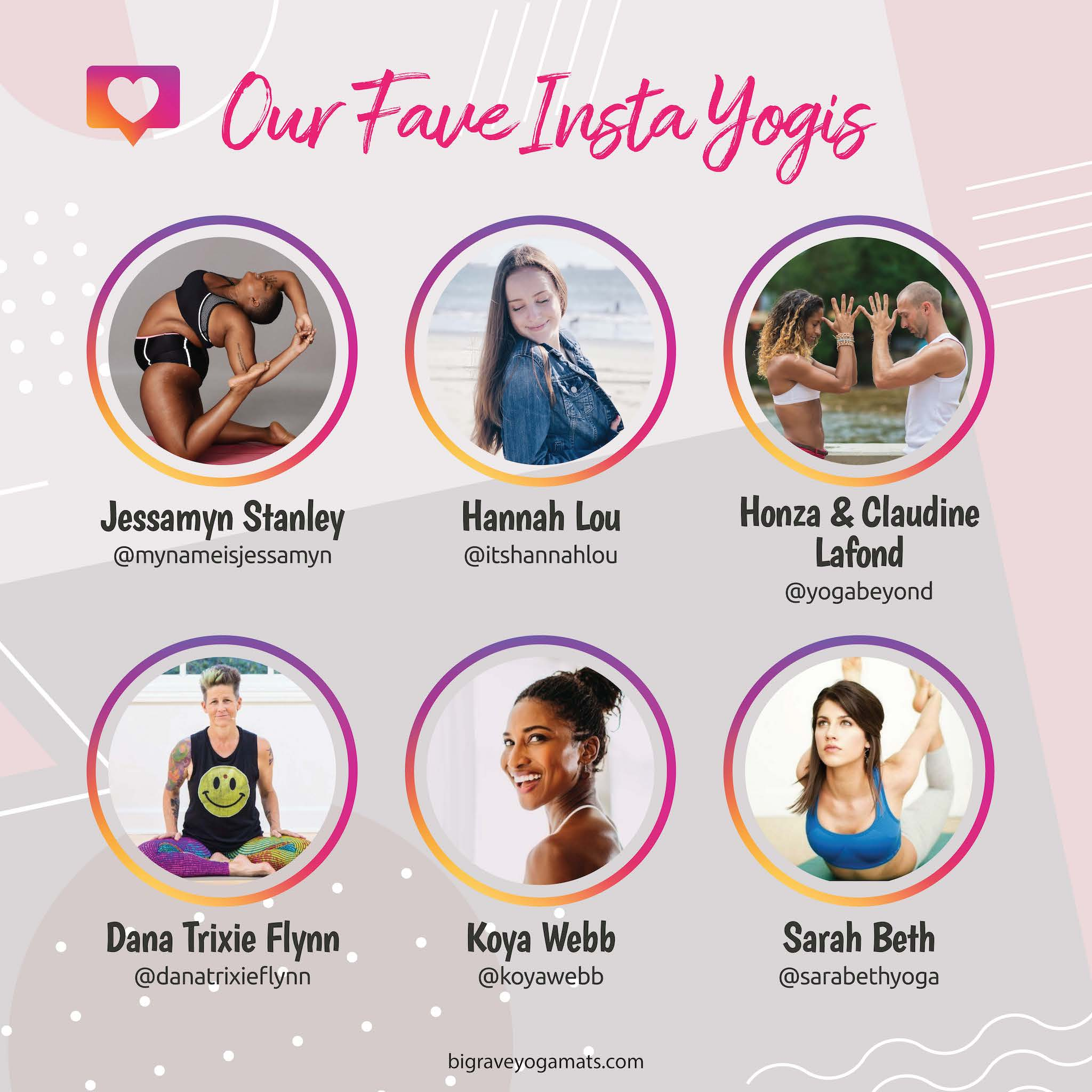 Infographic: Images of the yogis listed below
