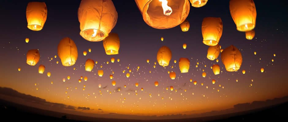 Photo of Chinese Sky Lanterns