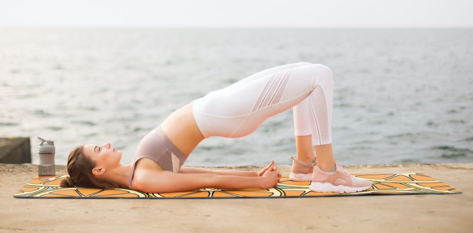 Big Raven Yoga | Orange Ya Glad It's Not Bananas?! Machine-Washable Microfiber Suede Yoga Mat