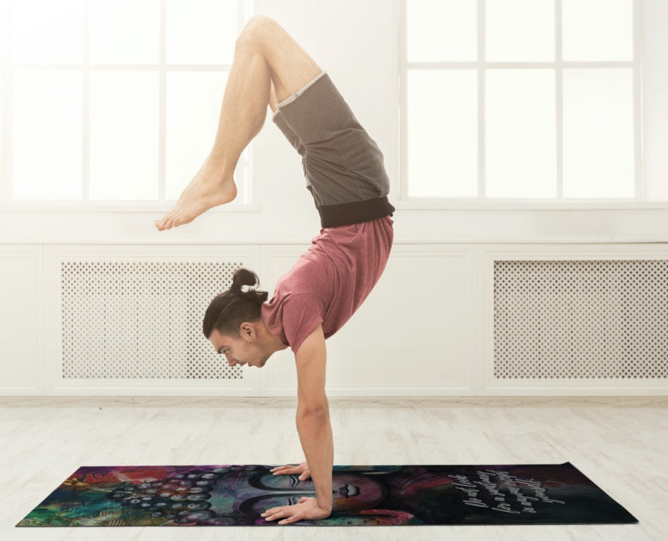 Big Raven Yoga | Buddha Machine-Washable Microfiber Suede Yoga Mat