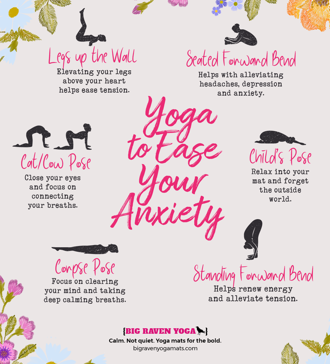 Infographic: Yoga to Ease Your Anxiety