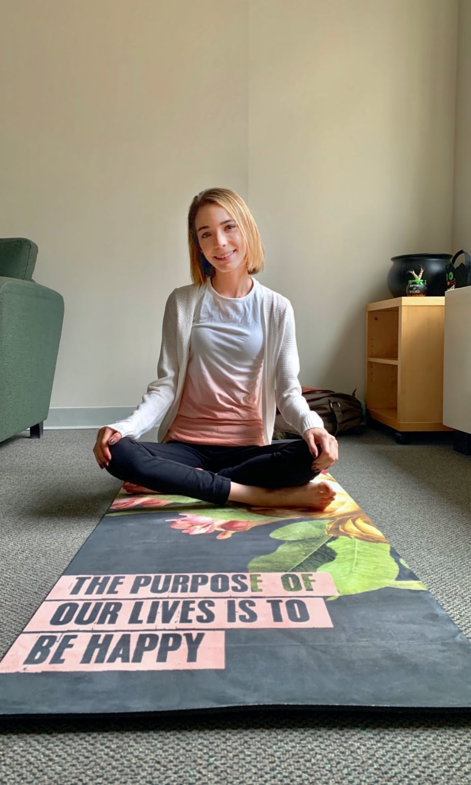 Big Raven Yoga | The Purpose of Life Machine-Washable Microfiber Suede Yoga Mat
