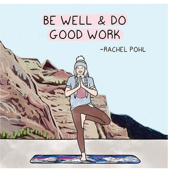 Big Raven Yoga Be Well Doodle Card
