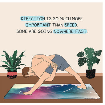 Big Raven Yoga Direction is Important Than Speed Doodle Card
