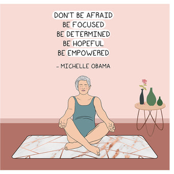 Big Raven Yoga Don't Be Afraid Doodle Card