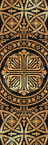 Big Raven Yoga Gilded Celtic Cross Yoga Mat